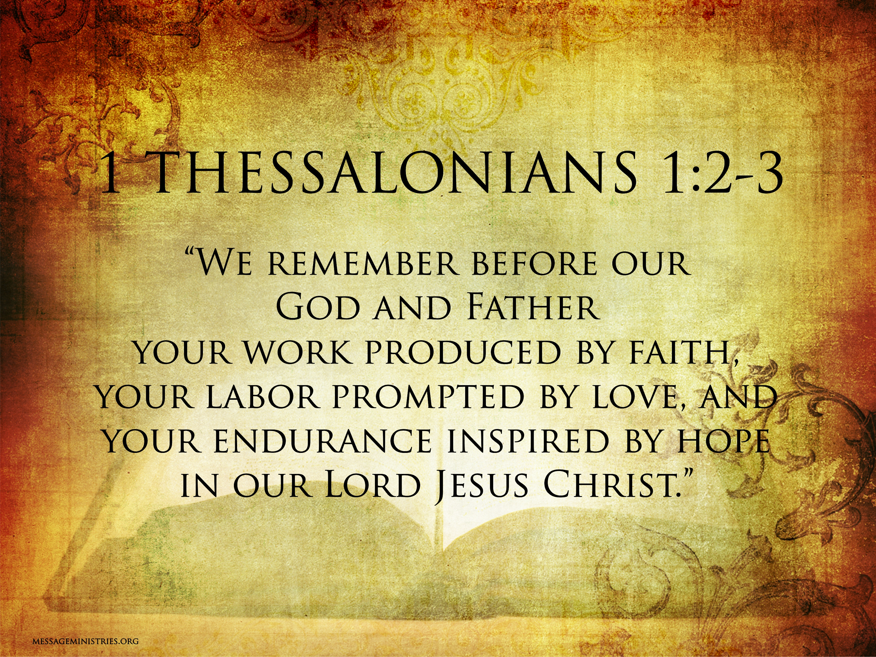 1 Thessalonians 1  2-3