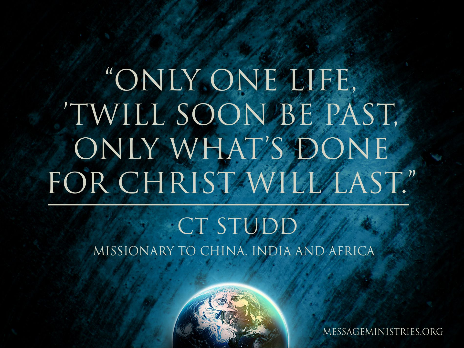 CT Studd Mission Quote