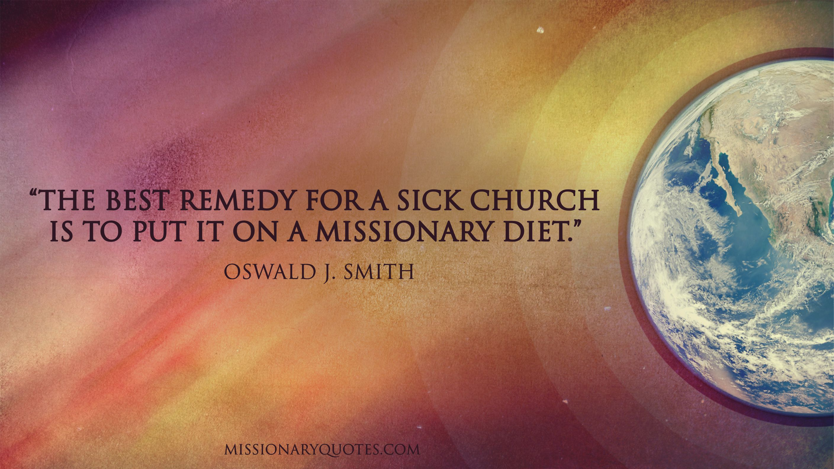 Oswald J Smith - The best remedy for a sick church